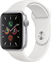 Apple Watch Series 5 44mm Case Silver Aluminium Sport Band White купить в Барнауле