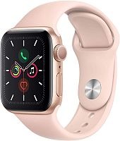 Apple Watch Series 5 40mm Case Gold Aluminium Sport Band Pink Sand купить в Барнауле