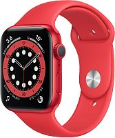 Apple Watch Series 6 GPS 44mm Case Red Aluminium Band Red купить в Барнауле
