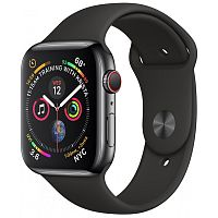 Apple Watch Series 4 44mm Case Space Grey Aluminium Sport Band Black купить в Барнауле