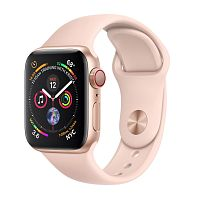 Apple Watch Series 4 44mm Case Gold Aluminium Sport Band Pink Sand купить в Барнауле