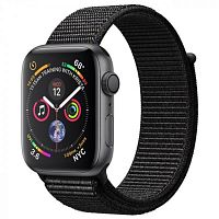 Apple Watch Series 4 44mm Case Space Grey Aluminium Sport Loop Black купить в Барнауле