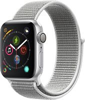 Apple Watch Series 4 40mm Case Silver Aluminium Sport Loop Seashell купить в Барнауле